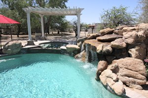 LAND AND HOME WITH POOL FOR SALE CASA GRANDE AZ  GUEST HOUSE