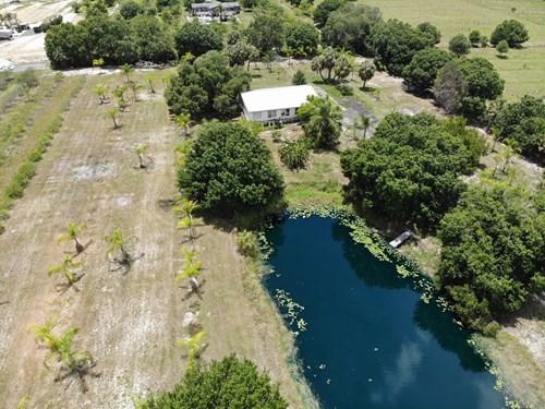 3 BR 2BA MH on 4.82 acres!