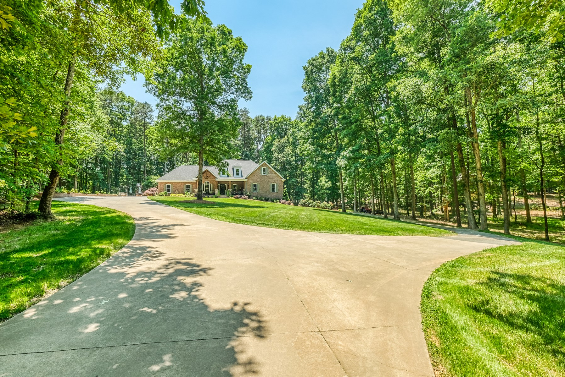 Large Brick Home with Acreage For Sale in Midland NC