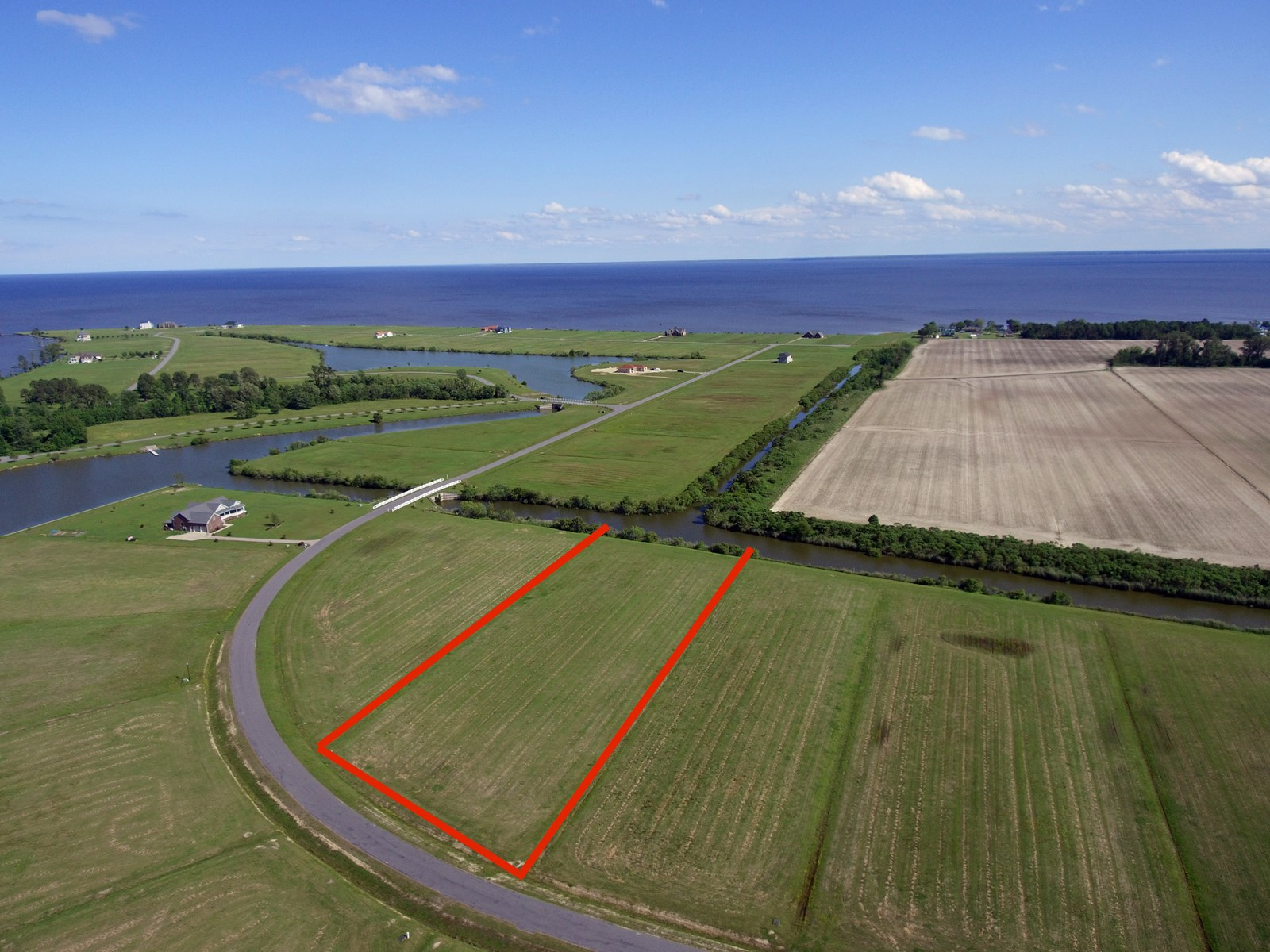 Canal Front Lot with Access to The Albemarle Sound!