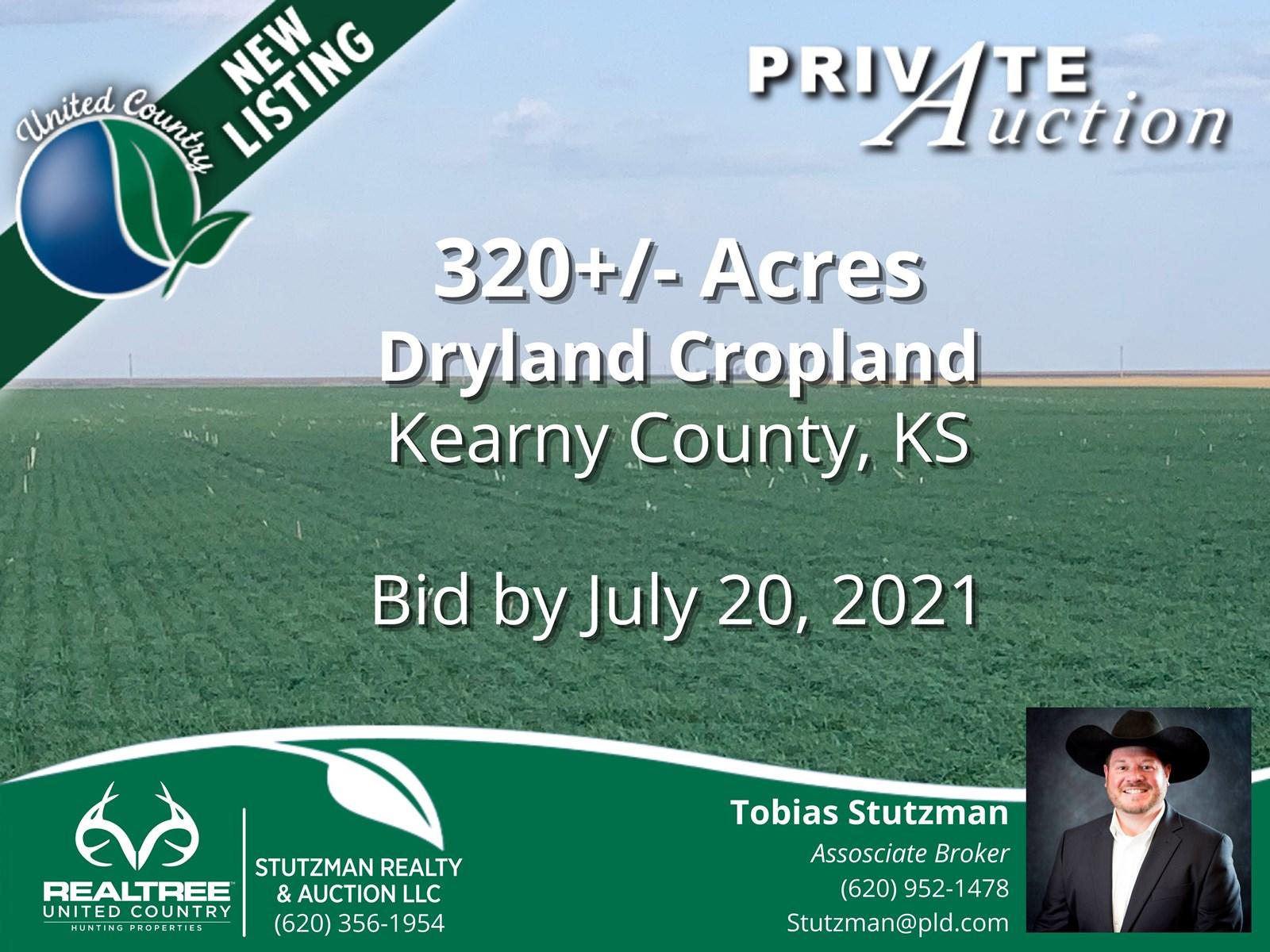 KEARNY COUNTY KANSAS ~ 320 ACRE FARM ~ PRIVATE AUCTION