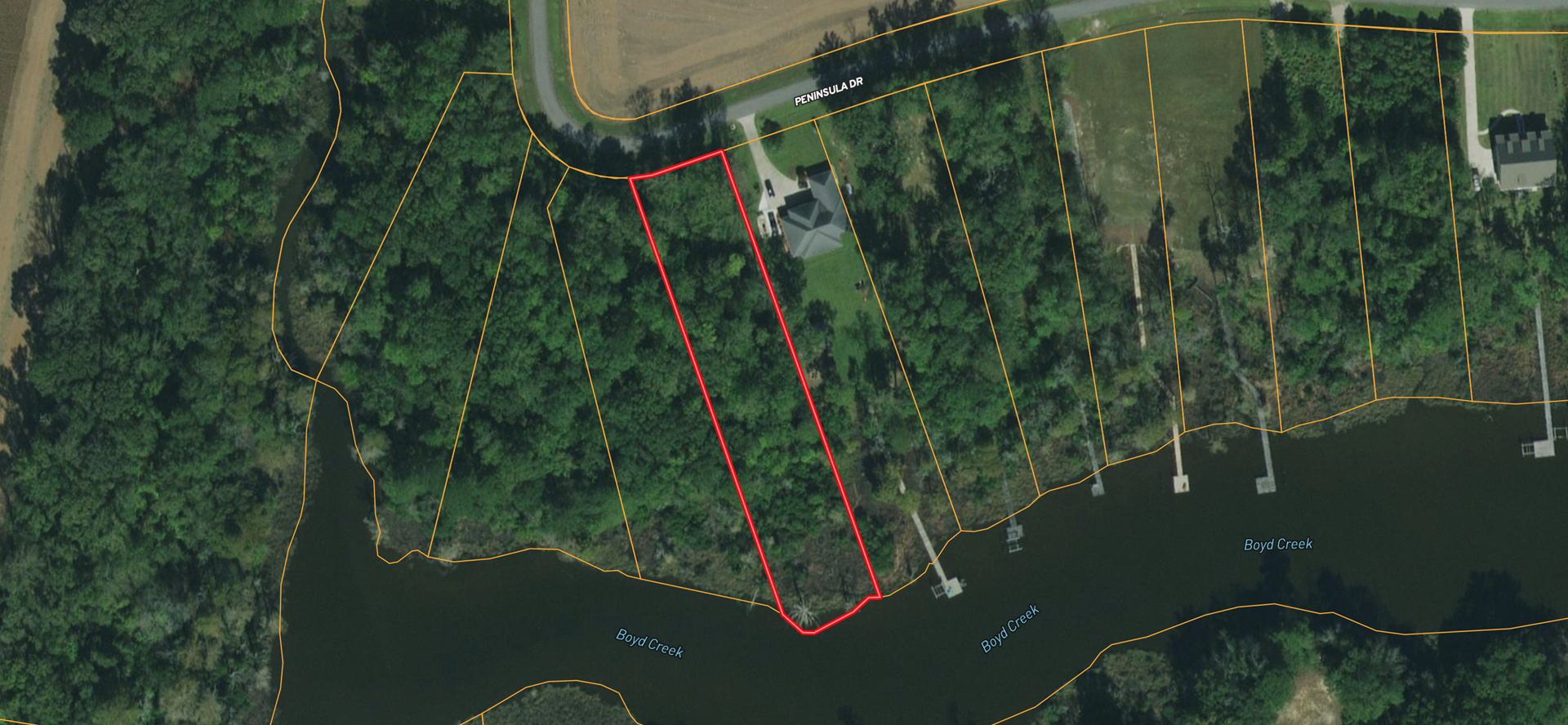 Waterfront lot for sale in Bath, NC