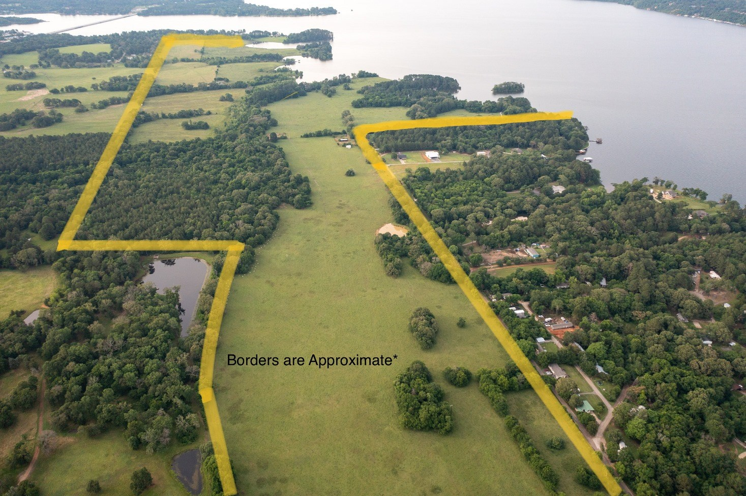 LARGE WATERFRONT ACREAGE TRACT FOR SALE ON LAKE PALESTINE