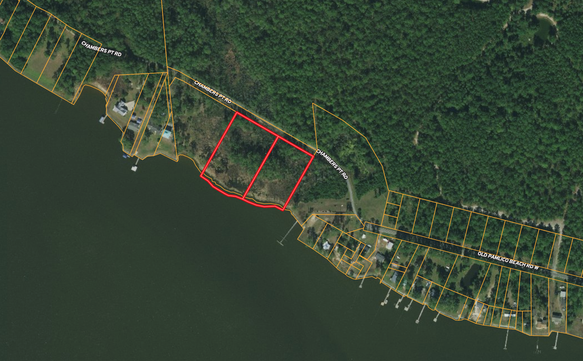 Waterfront property for sale in Beaufort County, NC