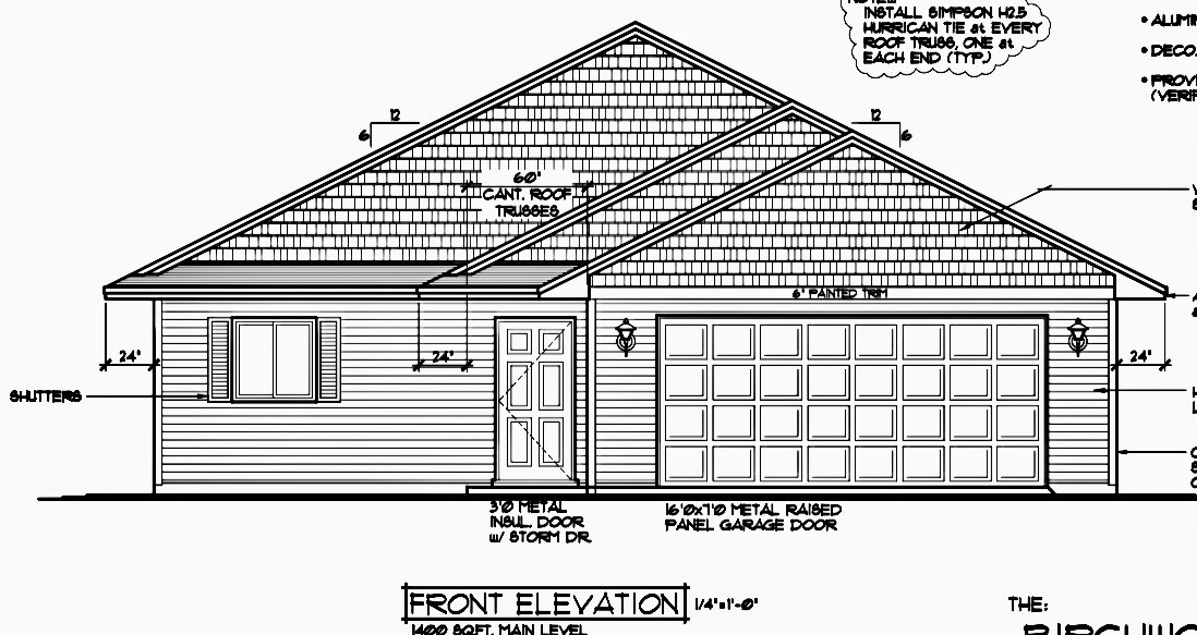 3/BR 2/BA New Construction Home located on 3.9 acres
