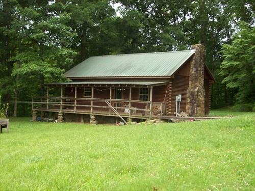 Log Cabin w/Creek, Acreage in TN.
