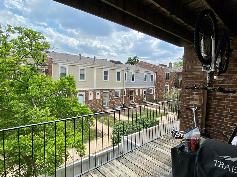 Balcony view- fits bbq and recreational items