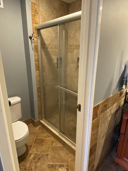 Master Bathroom Shower with sliding door