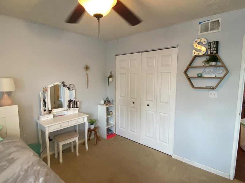 Bedroom 1 Closets with folding doors