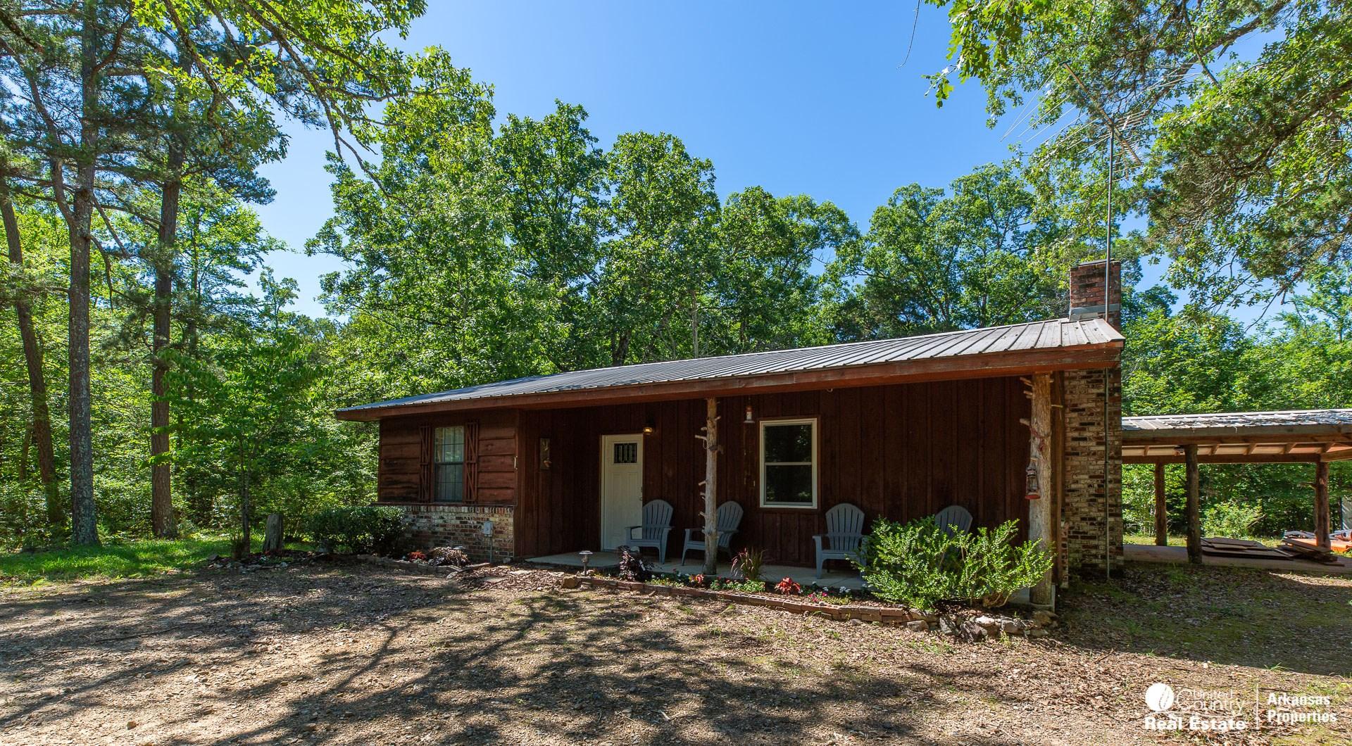 Cabin on 65 acres in Arkansas
