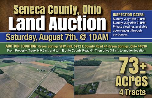 Seneca County, Ohio Land Auction