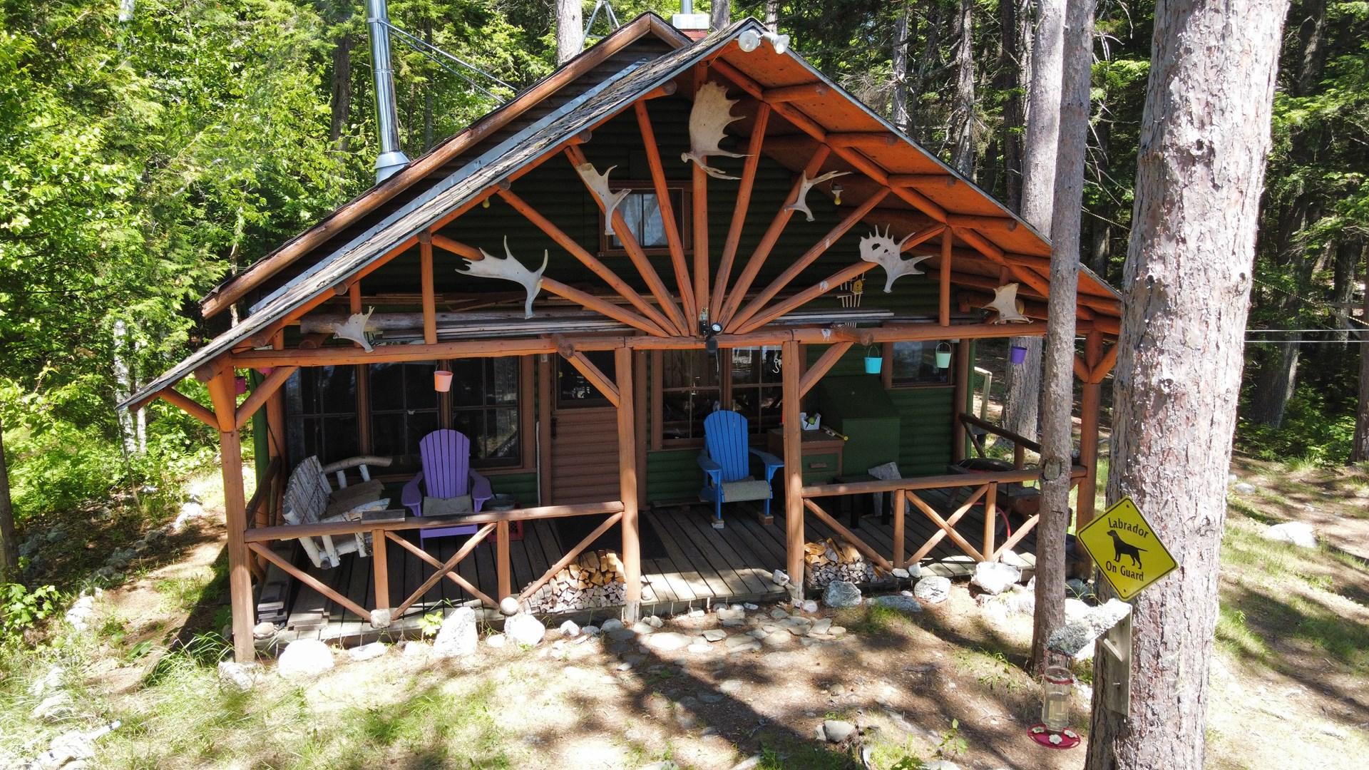 Log Home on Upper Oxbrook Lake