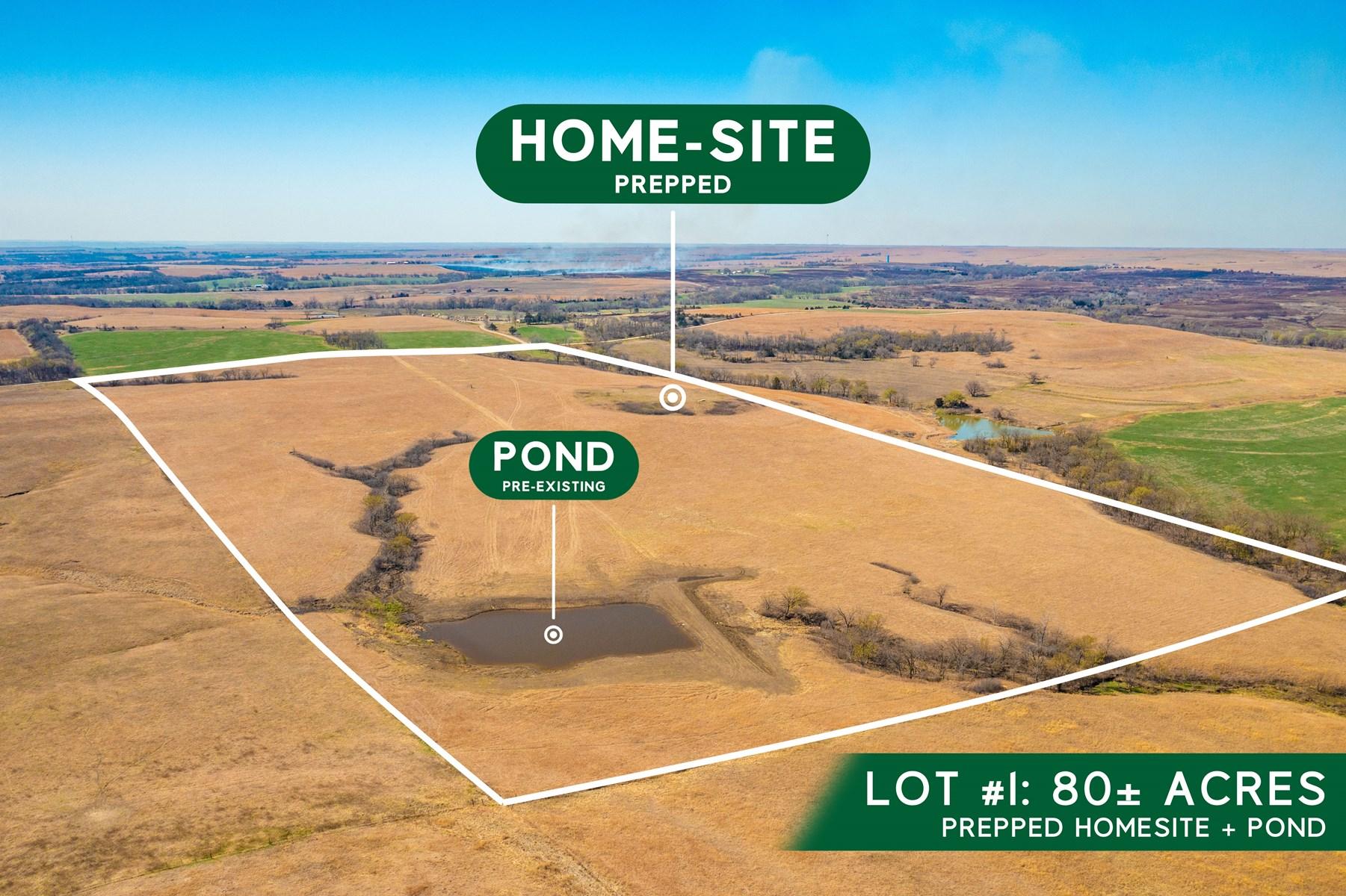 Kansas Land For Sale, Dream Home Build Site, Ranchette