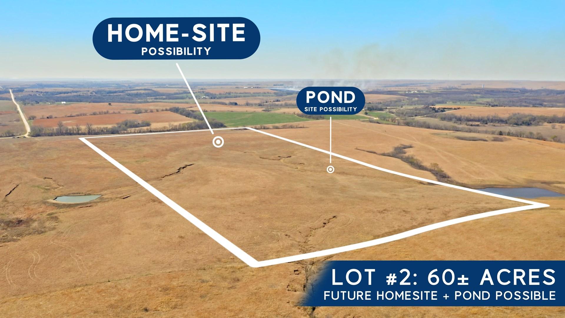 Kansas Ranch Land For Sale, Home Site, Scenic Flint Hills
