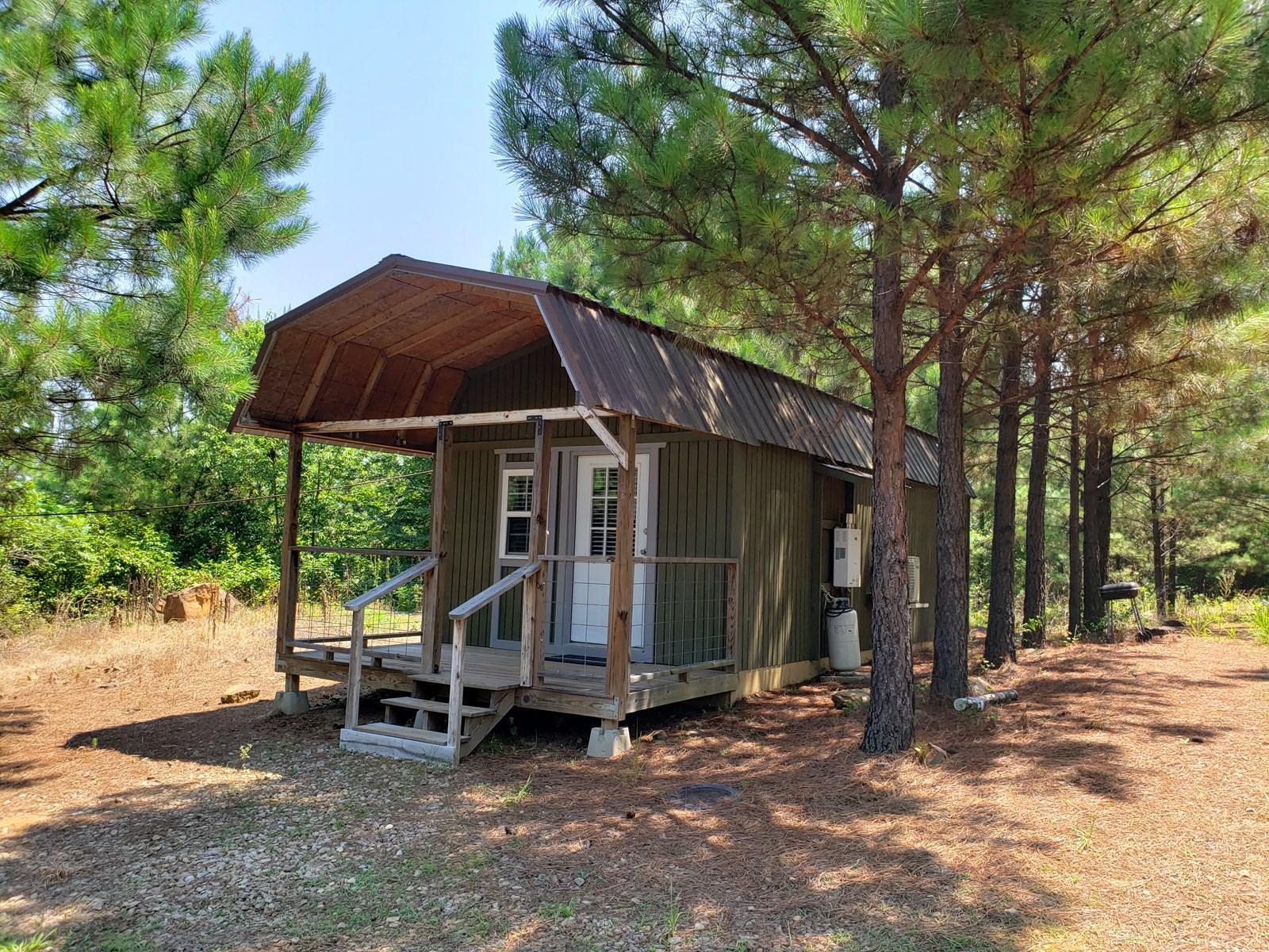 28.4 Acres Wister Lake Cabin Adjoining US Corp Land