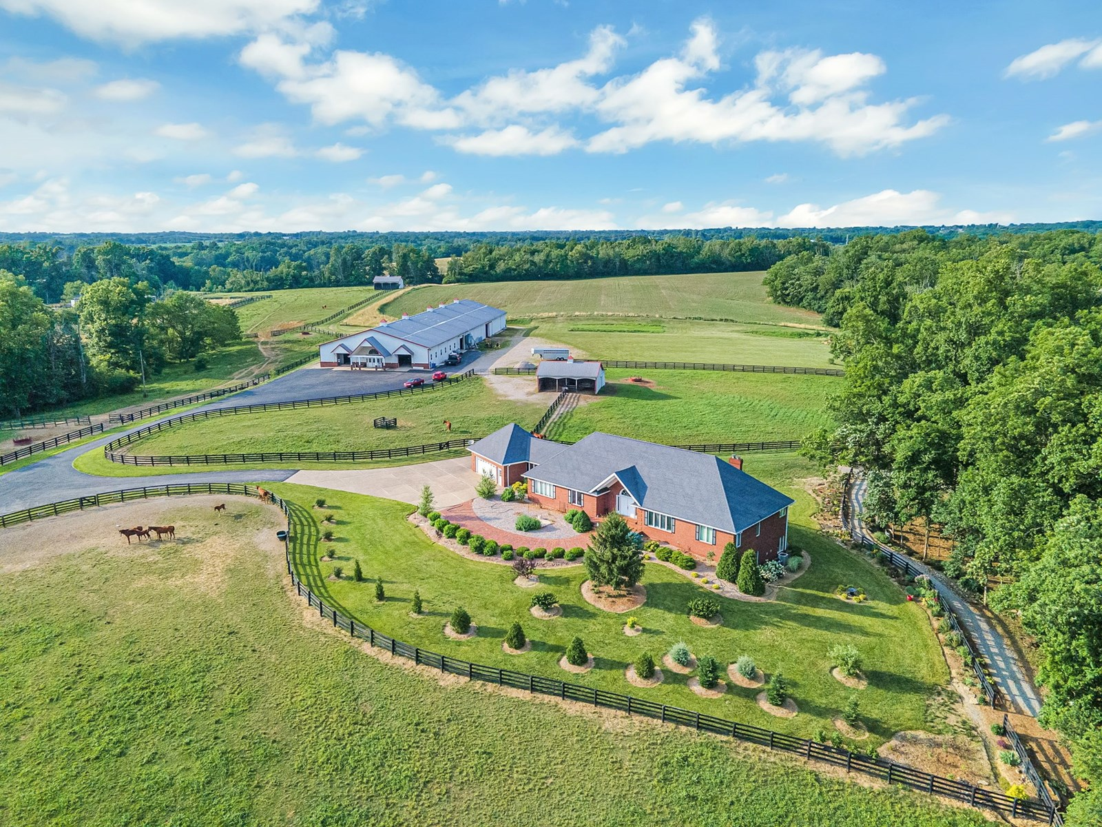Horse farm for sale Indoor Arena Shelby County Kentucky