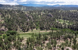 SECLUDED FIVE ACRE LOT  IN  CENTRAL COLORADO MOUNTAINS