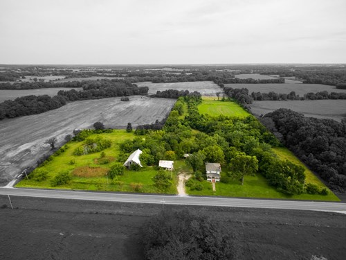 Online Auction Country Home on Acreage Archie, MO