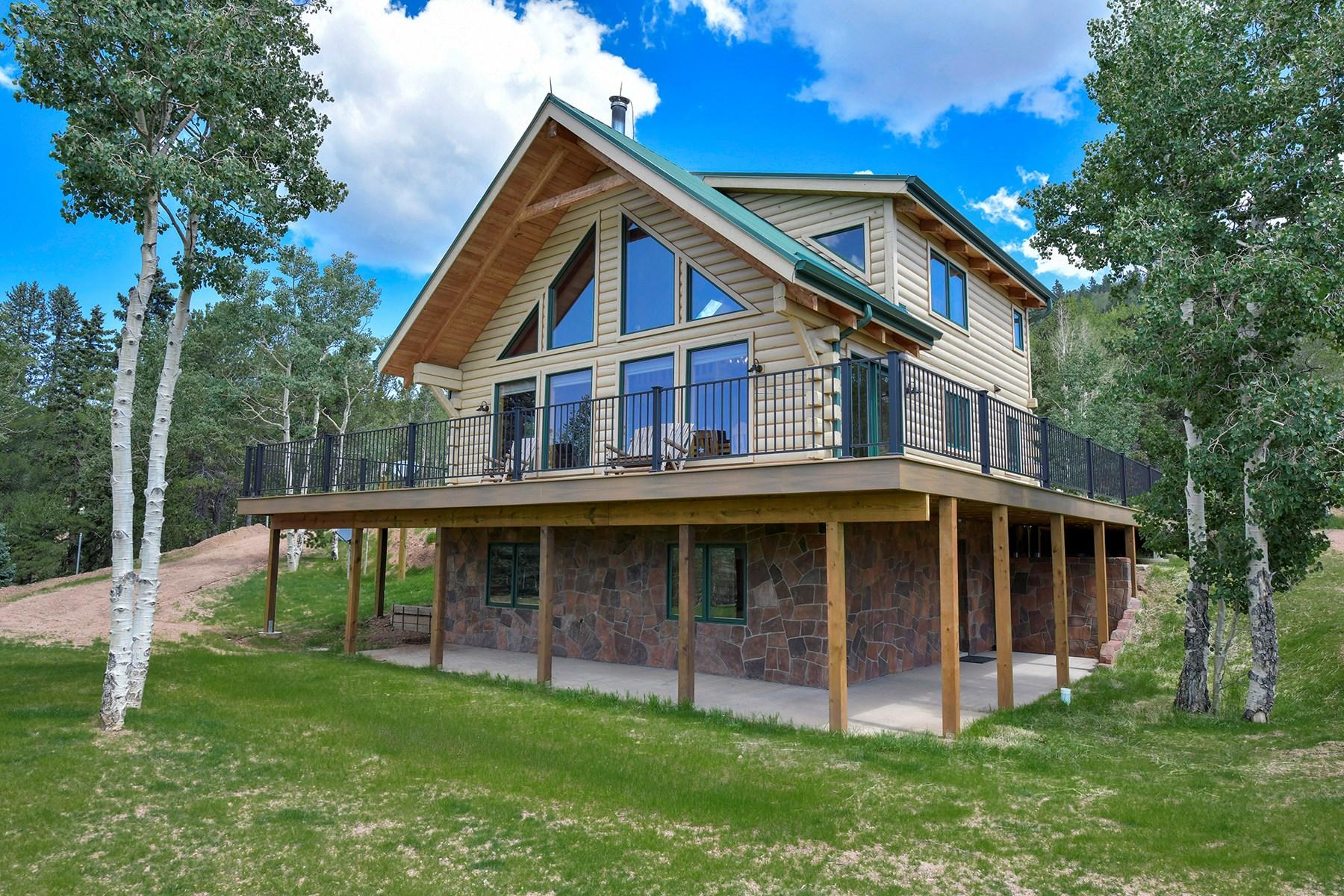 Log Home  - Extraordinary 35 acres in Central Colorado Mtns