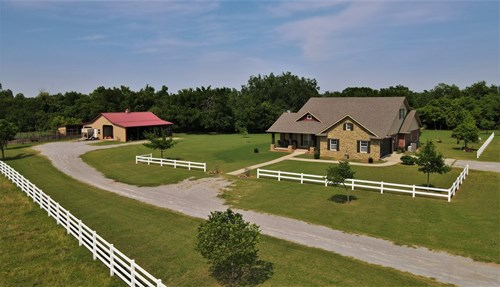Horse & Cattle Ranch with Home For Sale | Grady County, OK