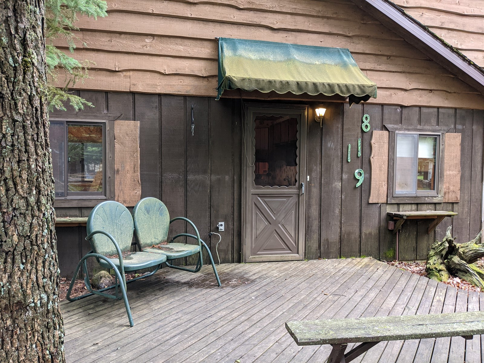 Home on Canada Creek Ranch for sale with a Log Cabin guest h