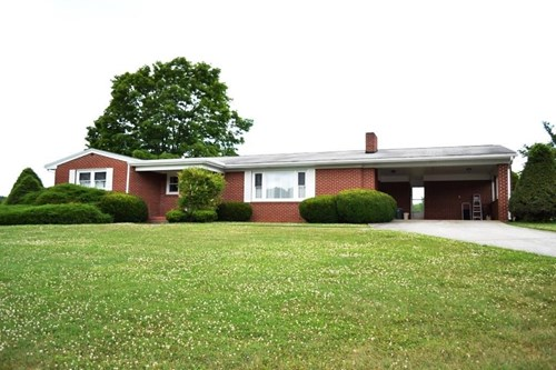 Brick ranch home for sale in Wytheville, VA