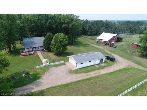 Country Home for Sale on 80 Acres with Barn; Farm Land MN