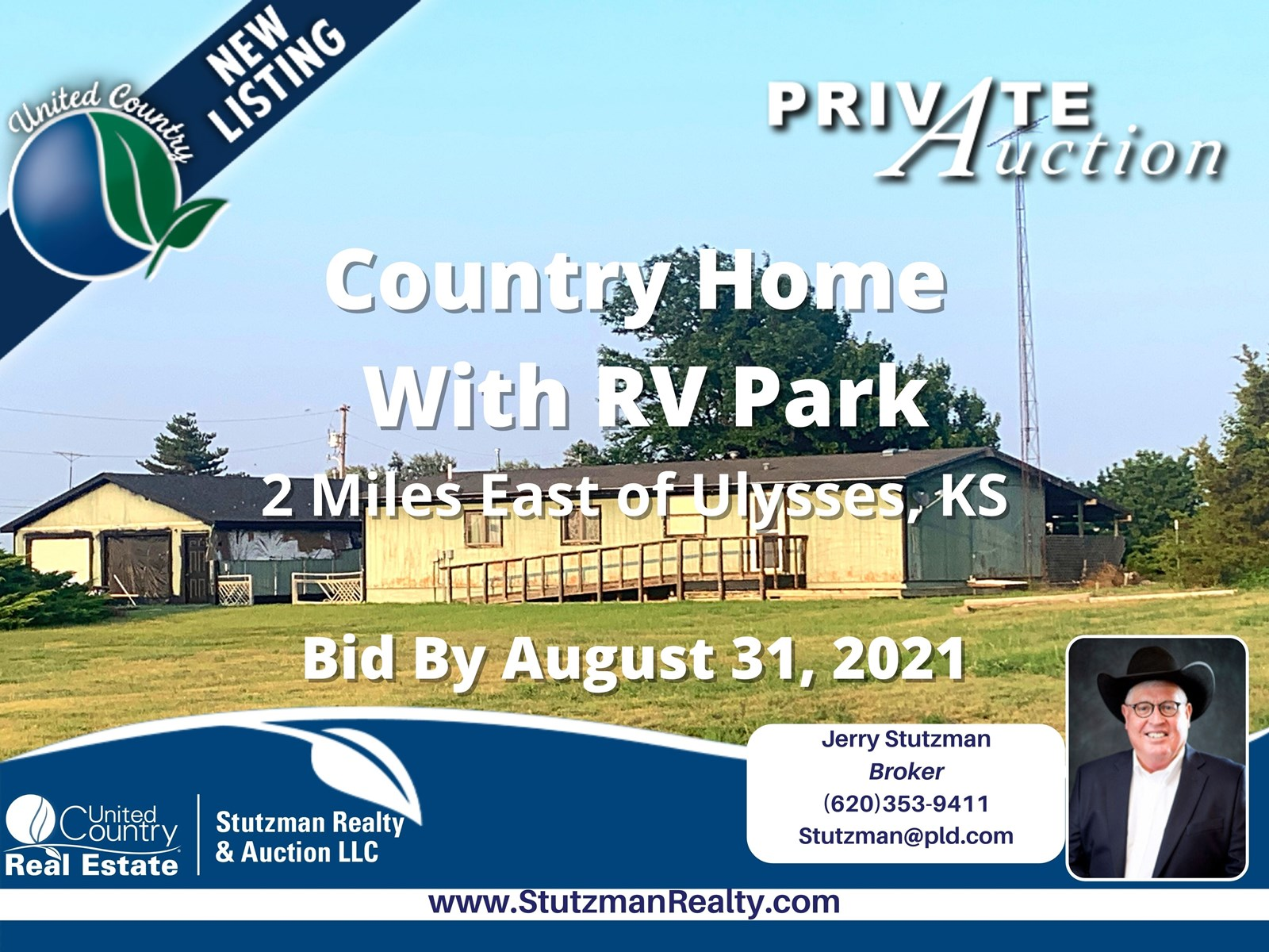 Private Auction- Country Home With RV Park