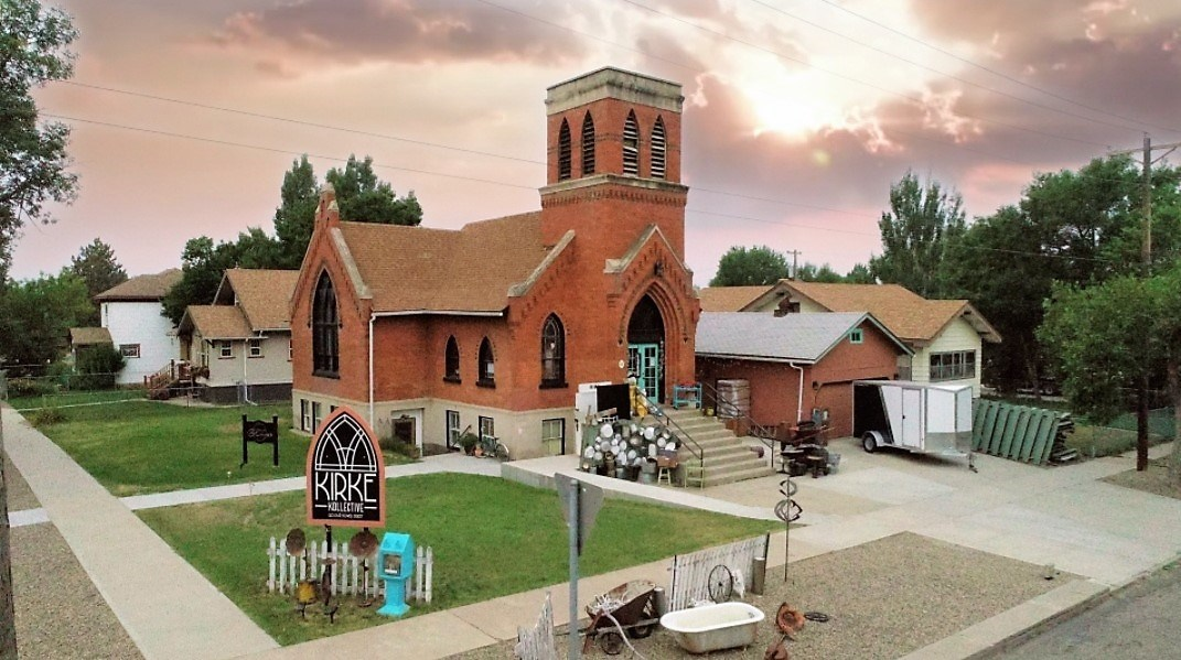 Historic church converted to a commercial building for sale