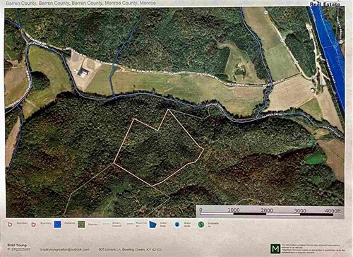 53.94 Acres of land for sale near Hestand Ky.