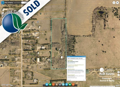 8± Acre Country Building Site on Paved Road Salina Kansas