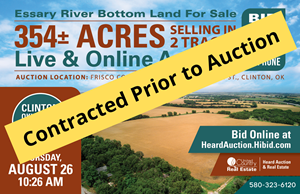 CUSTER COUNTY, OK ±218 ACRES  RIVER BOTTOM LAND FOR SALE