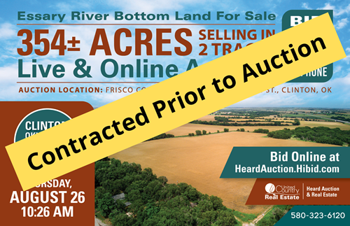 Custer County, OK ±136 Acres  River Bottom Land for Sale