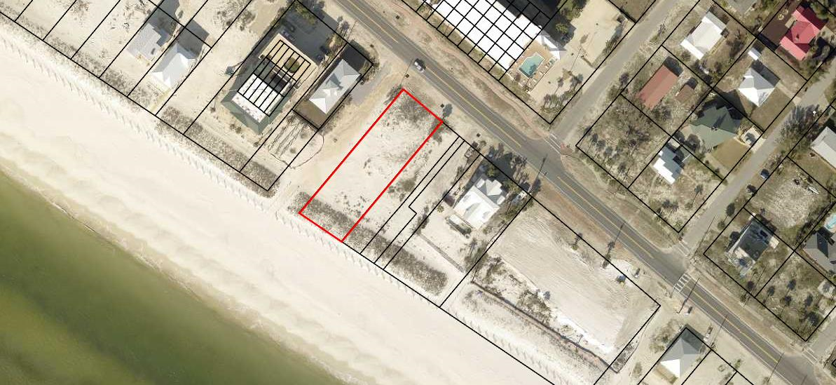 Beach front lot on the Gulf of Mexico