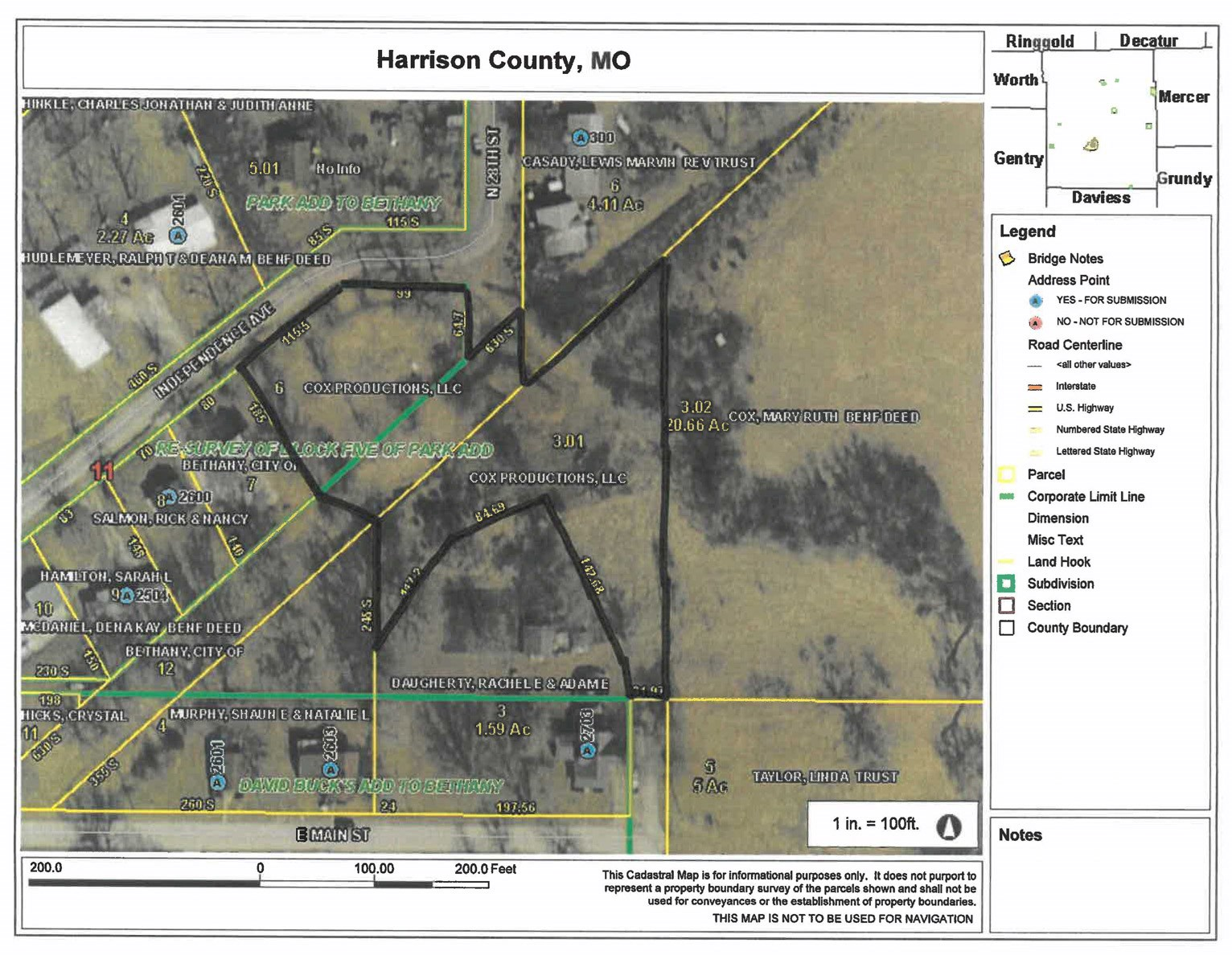 For Sale 2 Acres m/l in Bethany