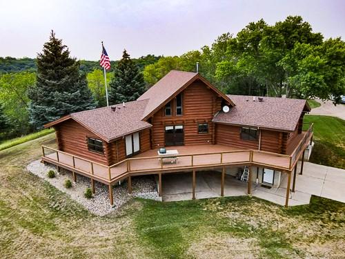 South Dakota Custom Log Home For Sale