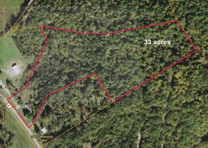 PREPARED HOME SITE, FARM, HUNTING, ROAD FRONTAGE