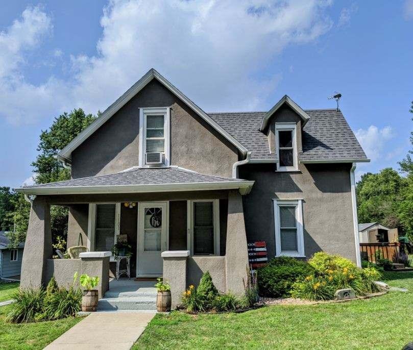 1.5 story Stucco Home for sale, Dunlap, IA, Harrison Co.