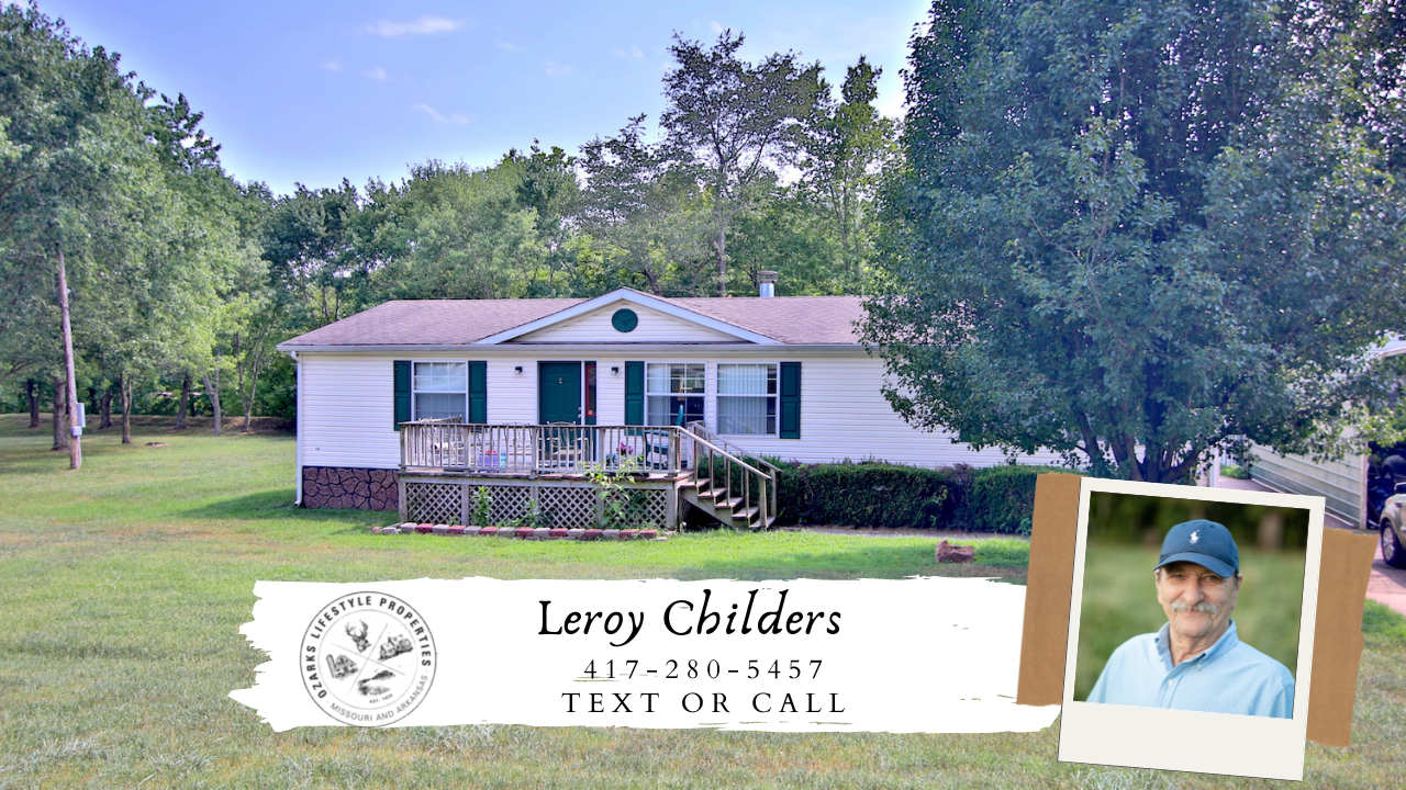 Home for Sale in the Ozarks with Creek Frontage