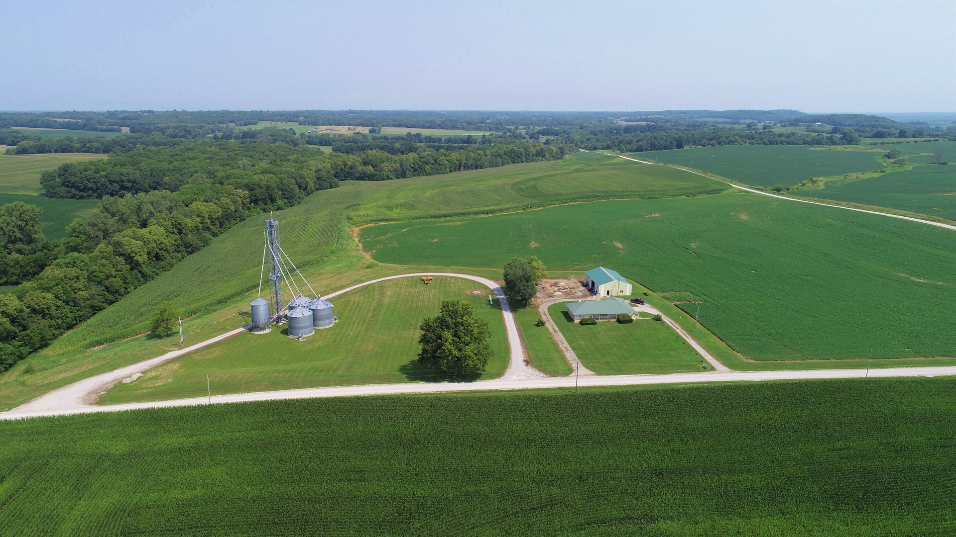 Ranch Home on 125+/- Terraced & Tiled Acres