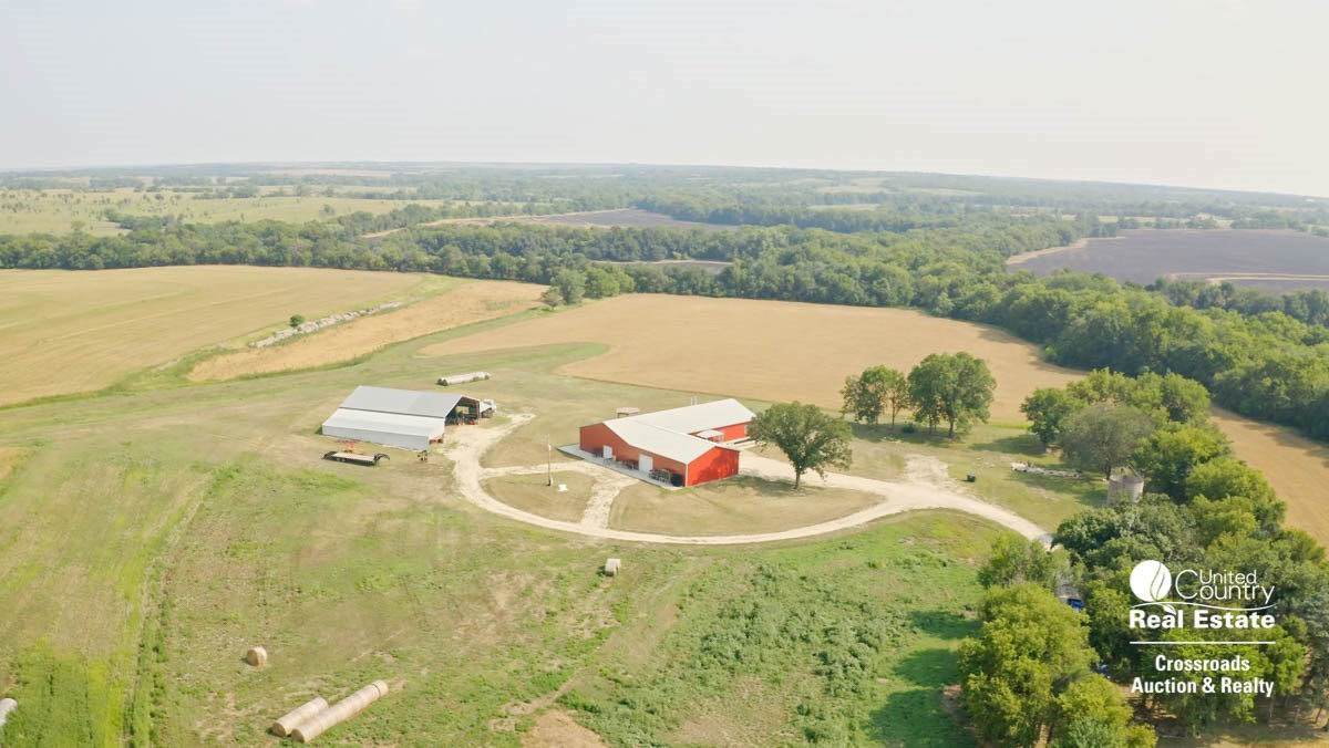 McPherson County, Kansas Country Home Hunting Land For Sale