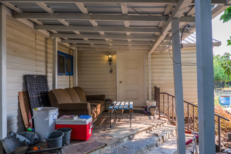 Side View of front porch