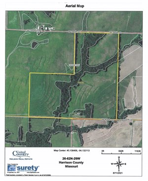 FOR SALE 120 ACRES M/L WITH OLDER HOME