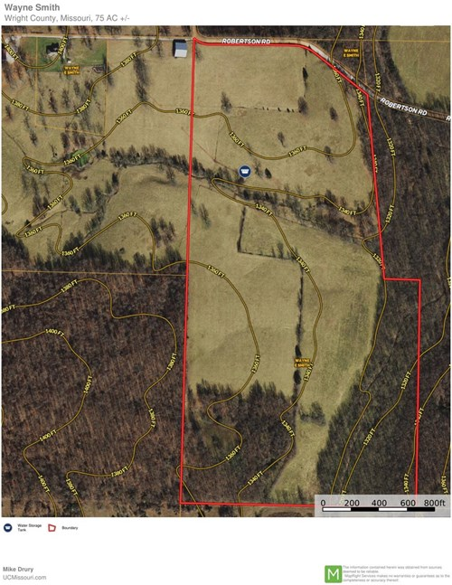 Fertile Missouri pasture/hay ground, Wright County