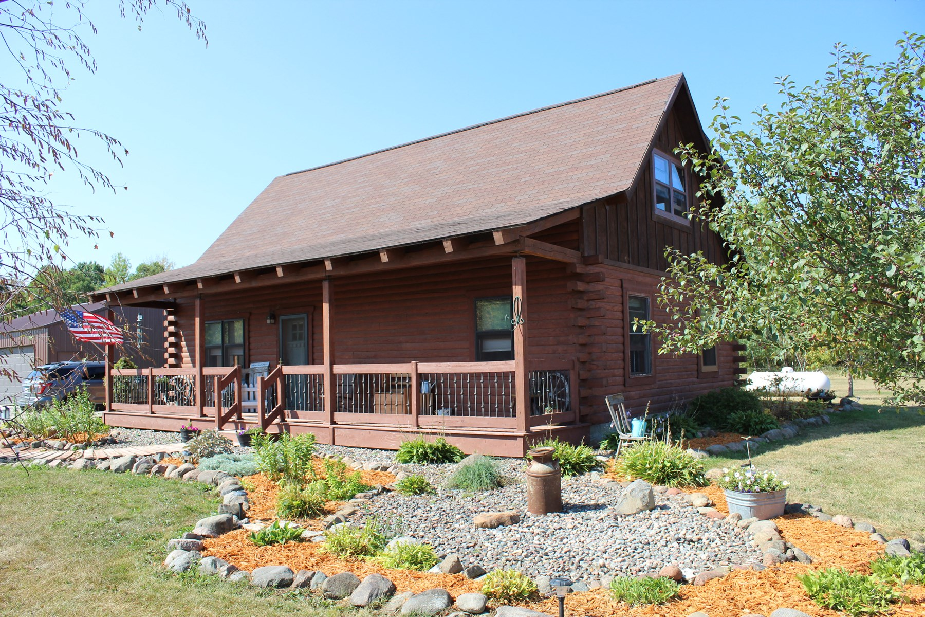 Beautifull Log Home For Sale South of Ogilvie