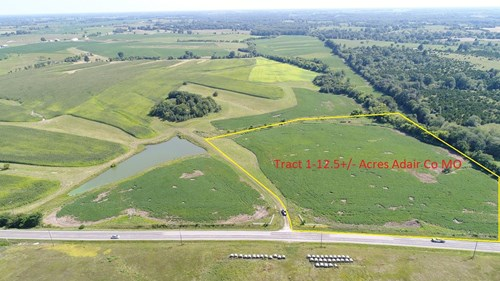 Northern Missouri farm with building site