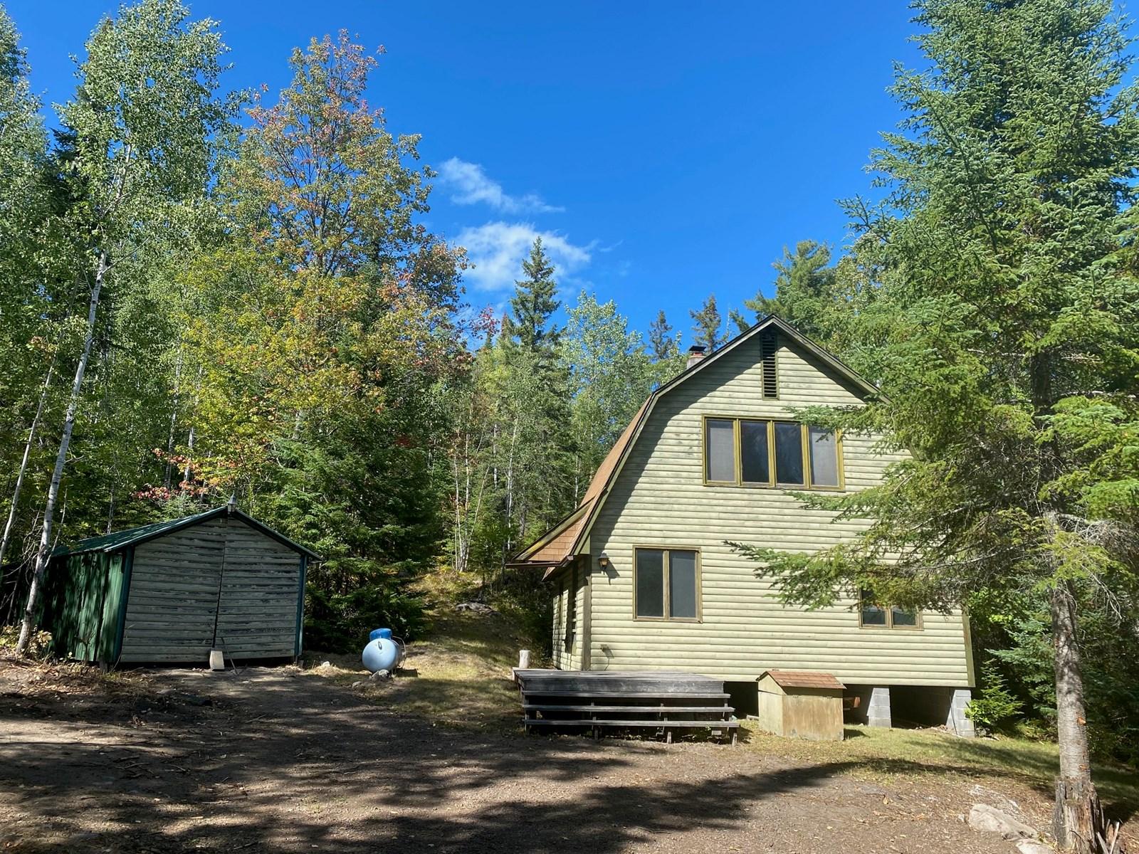 Seasonal hillside hideaway for sale in  Kabetogama, MN