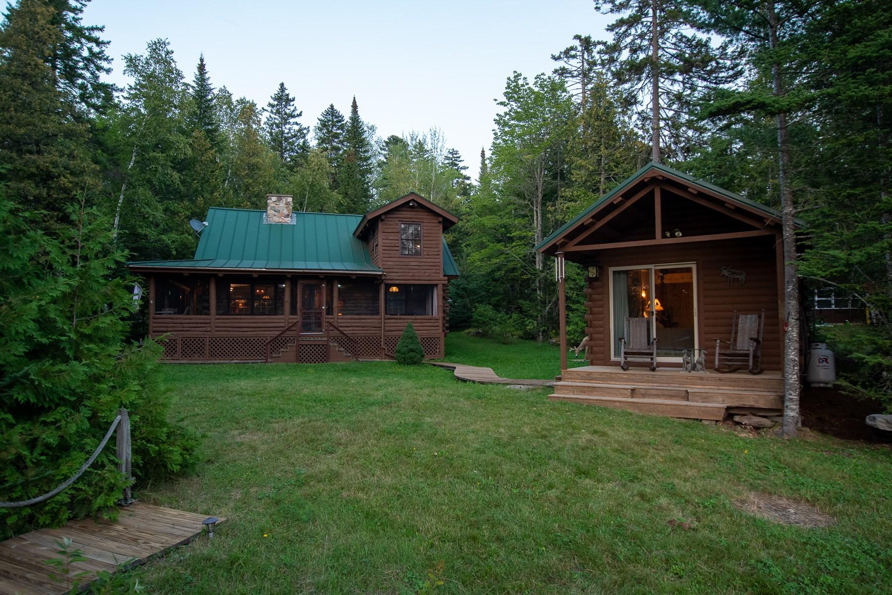 Lakefront Log Home for Sale