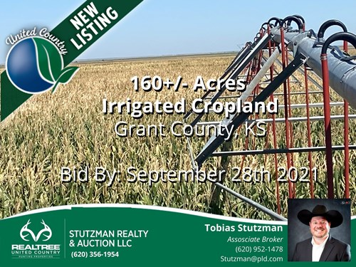 GRANT COUNTY, KANSAS ~ 160 IRRIGATED FARM ~ PRIVATE AUCTION