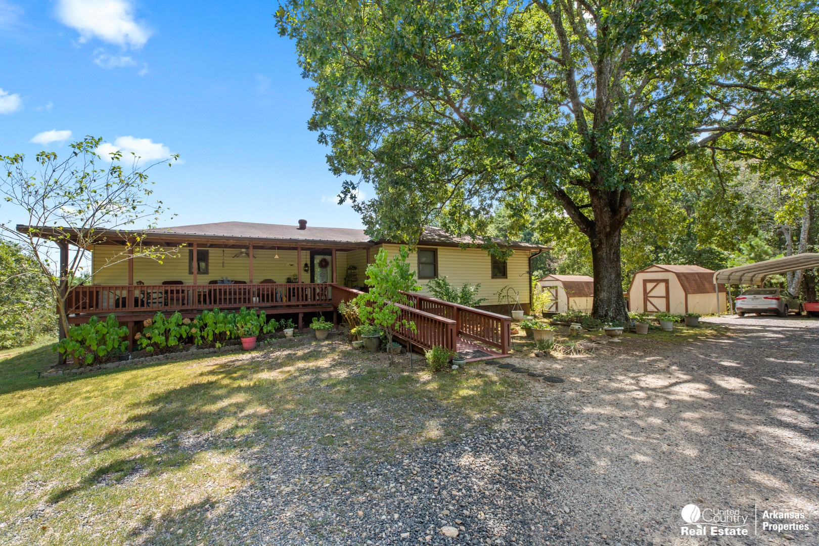 Home with acreage in town!